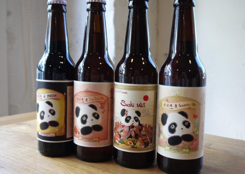 「4匹のパンダがやってきた!」 パンダのクラフトビールが登場